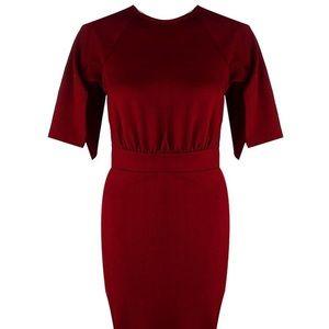 Boohoo Dresses - Split Sleeve Detail Wiggle Midi Dress